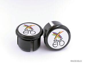 Eddy Merckx white black Handlebar Plugs Bar End Caps vintage style retro