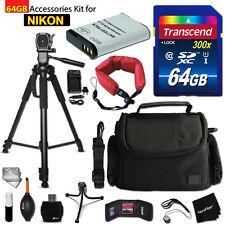 64Gb Accessories Kit for Nikon CoolPix B700, P900, P610, P600