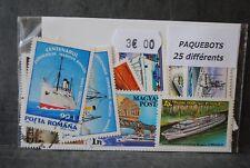 Paquebots, 25 timbres thématiques, tous différents