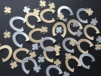 75 Good luck Wedding Table Confetti Gold Silver pearl Horseshoe shamrock clover