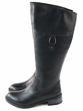 Clarks Womens Swansea Bridge Riding Boot Black leather Size 7 M US