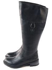 Clarks Womens Swansea Bridge Riding Boot Black leather Size 7 M US