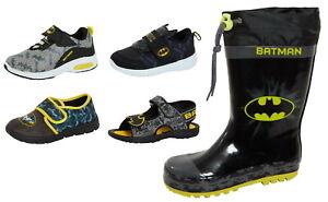 Boys DC Comics Batman Footwear Selection Kids Trainers Slippers Wellingtons Size