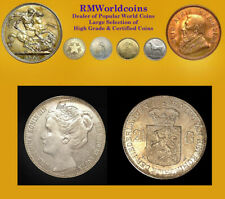 Netherlands 1898 2 1/2 Gulden, Rare Type, High Grade AU/UNC, Sharp, Low Mintage