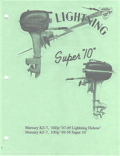 Vintage Mercury  Model KE-7 '47-'49 & KF-7 '49-'50 Outboard Service Manual