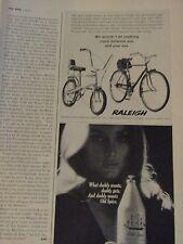 1969 Raleigh Original Print Ad Chopper-8.5 x 10.5 '' - 1/3 page Ad