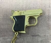 Walther Keychain Mini Gun Pistol 1.75 inches 920 Diecast Vintage NOS Brass Gold