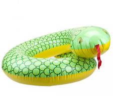 "Serpiente gigante hinchable 36"" Natación Anillo Piscina Flotador Agua balsa Diversión playa nuevo Reino Unido"