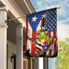 Puerto Rico American Flag Garden And House Flag US Home and Yard Decor