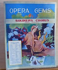 Soldier's Chorus - 1910 large sheet music - from the opera Faust by Gounod