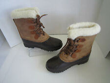 Women's Sorel Alpine Winter Snow Boots, Size 8, Tan/Brown