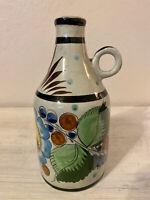 Vintage Handmade & Painted Folk Art Ceramic Jug Figurine ~ Signed Tonala MEXICO