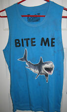Local Celebrity Blue Bite Me Shark Tank Top Size Small S