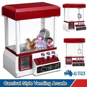 Carnival Claw Machine Vending Arcade Candy Grabber Prize Game Funny Kids Toy Red