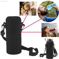 3B81 600ML Neoprene Water Bottle Shoulder Carrier Insulated Cover Holder Strap T