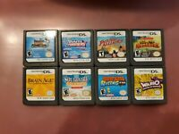 Lot Of 8 Nintendo DS 3DS 2DS Games Bundle Wario, solitaire, Diddy dong, and more