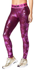 Zumba Never Stop Shinin' Ankle Leggings - Metallic ~ Violet ~ XS, Large, XXL