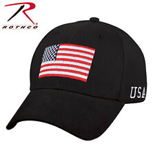 916b0953e5c Low Profile Subdued Black US Flag Baseball Hat Cap Rothco