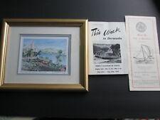 Bermuda Post Card & Paper Lot-14 Post Cards, 3 Booklets, Framed print