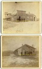 Elbow Lake, MN - 26 carded albumen photos, early 1900s, lumber yard, lake house