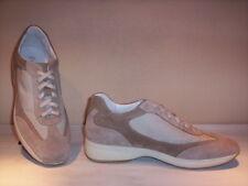 Melluso scarpe sportive sneakers casual traspiranti uomo pelle camoscio beige 42