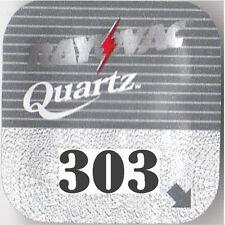 5 x Rayovac 303 Quartz Watch Batteries SR44SW SR44 V303
