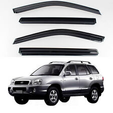 New Smoke Window Vent Visors Rain Guards for Hyundai Santa Fe 2002 - 2005
