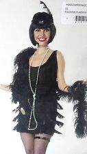 NEW FASHION FLAPPER ADULT HALLOWEEN SEXY LADY'S COSTUME PARTY, BLACK, MSRP $45