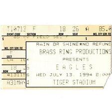 The Eagles Concert Ticket Stub Detroit 7/13/94 Tiger Stadium Hell Freezes Over