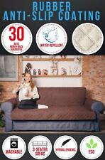 Leather Sofa Couch Quilted Fabric Slipcover Protector Water Resistant Washable
