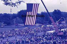 AGFACHROME Slide Ohio Cuyahoga Falls Bicentennial Parade Flag Band Old Cars 1976