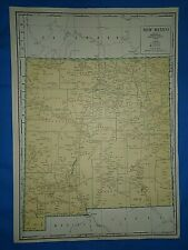 Vintage 1947 State & County MAP ~ NEW MEXICO Old Original Folio Size Atlas Map