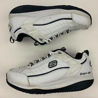 SKECHERS Shape Ups 52000 White Navy Lace Up Athletic Toning Shoes Men's US 12