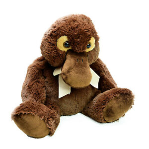 Korimico Platypus Plush Soft Stuffed Animal Toy Washed and Clean 24cm Sitting