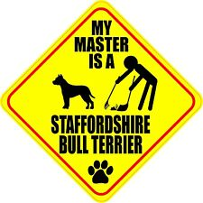 "Master Staffordshire Bull Terrier 4"" Dog Poop Sticker"