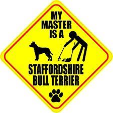 "Master Staffordshire Bull Terrier 4"" Dog Poop Sticker"