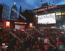 Toronto Raptors Fans Celebrate at Jurrasic Park at Scotiabank Arena 8x10 Photo