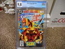 World's Finest Comics 298 cgc 9.8 DC 1983 Batman Superman Zeta WHITE pgs NM M