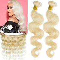 #613 Blonde Body Wave Human Hair Bundles Brazilian Hair Weaves Extensions US