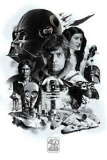 STAR WARS POSTER 40th ANNIVERSARY MONTAGE ALL CHARACTERS