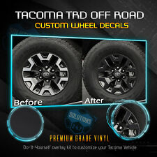 Fit 2016-2019 Toyota Tacoma TRD OffRoad Wheels Vinyl Decal - Solid Flat Matte
