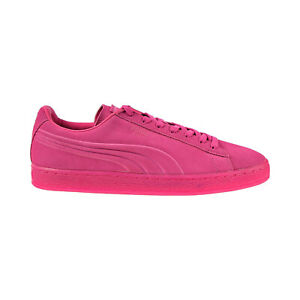 Puma Suede Embossed Iced Fluo Men's Shoes Beetroot Purple 361881-01