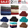 6 Piece Bath Towel 100% Cotton Luxurious Towels Fade-Resistant Color Soft Plush