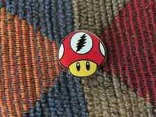 Dead Head Red Glow in the Dark Video Gamer Magic Mushroom Enamel Lapel Hat Pin