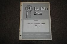 IH HITCH & HYDRAULIC SYSTEM 500 CRAWLER TRACTOR SERVICE MANUAL (GSS-1380)