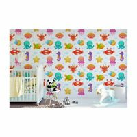 Original wall deco Mural sticker CUSTOM children's room nursery DAYCARE Aquarium