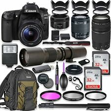 Canon EOS 80D DSLR Camera with (4) Lenses and Accessory Kit