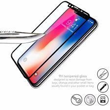 iPhone X Full HD Screen Protector   Ultra Thin 3D Curved Black Edge Arc 9H Glass