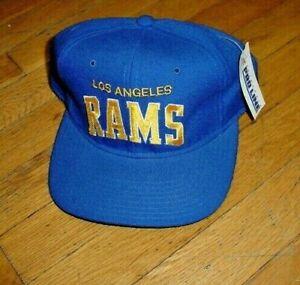 NOS NWT 1990s Vintage Los Angeles Rams Pro Line Starter Snap Back Hat Game Cap