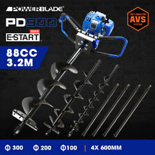 Powerblade Post Hole Digger 86cc Posthole Earth Auger Fence Borer Petrol Drill